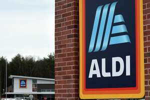 A new Aldi supermarket opened on Thursday, Nov. 12, 2020, on Lowes Drive off Route 50 in Wilton, N.Y. (Will Waldron/Times Union)
