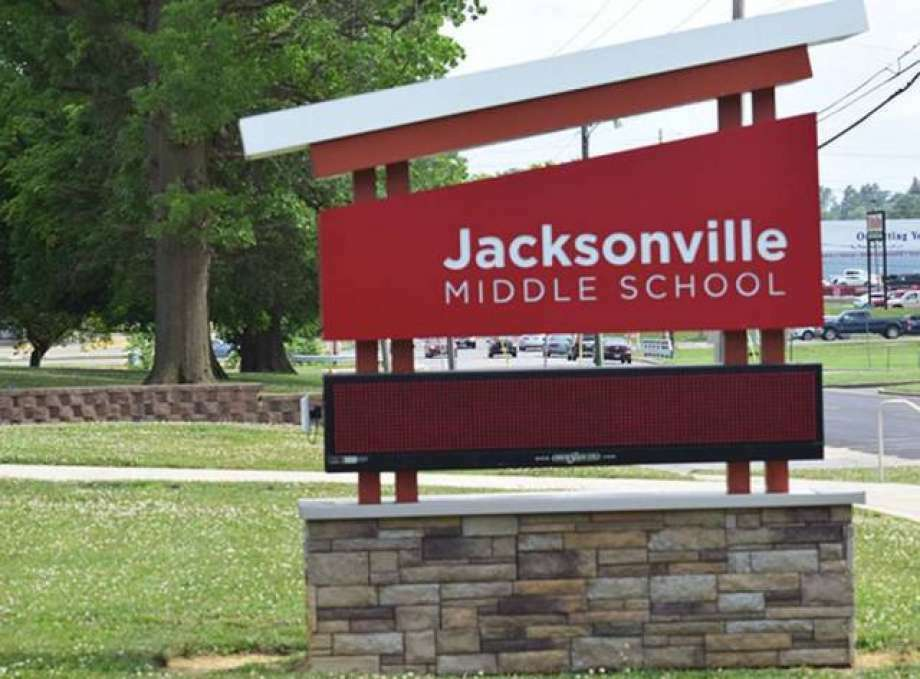There are 256 students from District 117 schools under quarantine, including 55 from Jacksonville High School and 47 from Jacksonville Middle School. Photo: Journal-Courier