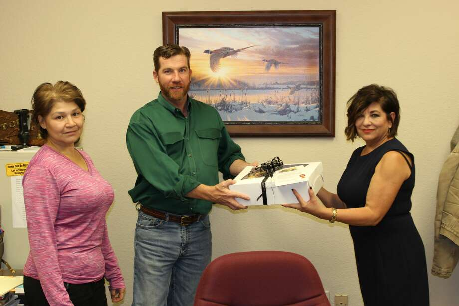 L-R: Liza Peoples, paralegal, Rob Hamilton, attorney, Sylvia Chavez, EJVP coordinator Photo: Provided By Legal Aid Of NorthWest Texas