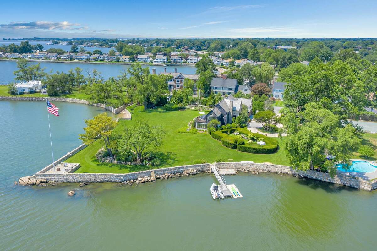 Waterfront home located at 236 Davenport Drive in Stamford, Connecticut. Johnson described the home as a