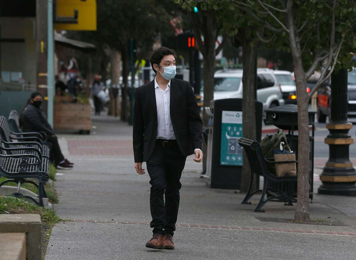 City Council member-elect James Coleman walks on Grand Avenue in downtown South San Francisco.