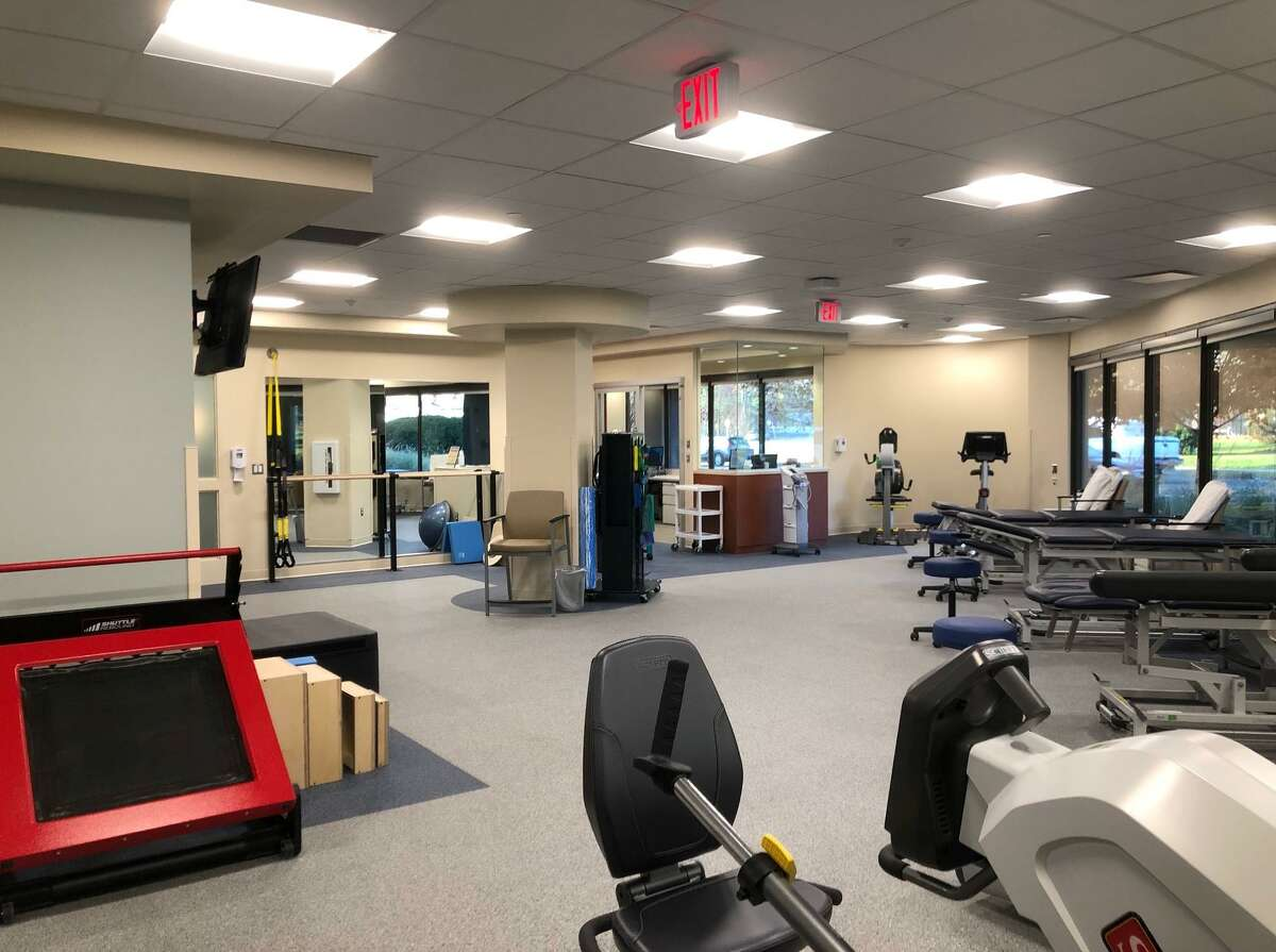 The Stamford Health and Hospital for Special Surgery Sports Rehab center at 372 Danbury Road offers new equipment including a seated elliptical recumbent cross trainer, a rebounder, hi-lo treatment tables, an upright stationary bike, an upper-body ergometer, a ballet barre, and TRX straps.