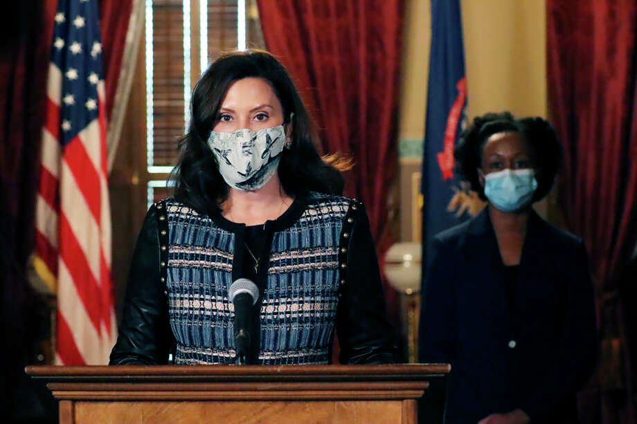In a video released Tuesday, Gov. Gretchen Whitmer encouraged Michiganders to stay safe on Thanksgiving and over the holiday weekend by wearing a mask, practicing safe physical distancing, washing hand frequently, and following a recent order put in place. Photo: AP