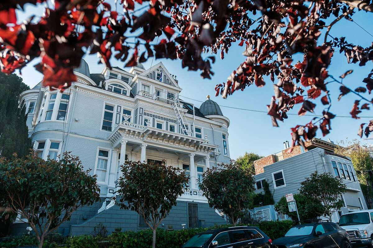 A general view of the Nobby Clarke Mansion, a city landmark, in San Francisco on Friday, October 30, 2020.