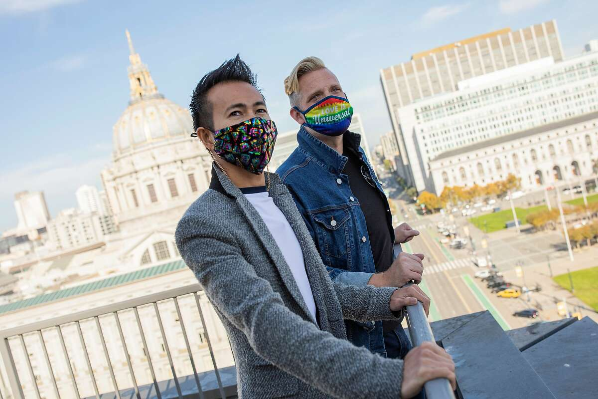 With many landlords scrambling to offer incentives, Reagan Rockzsfforde (left) and Christopher Beale are among those who have decided it's a good time to move to San Francisco.