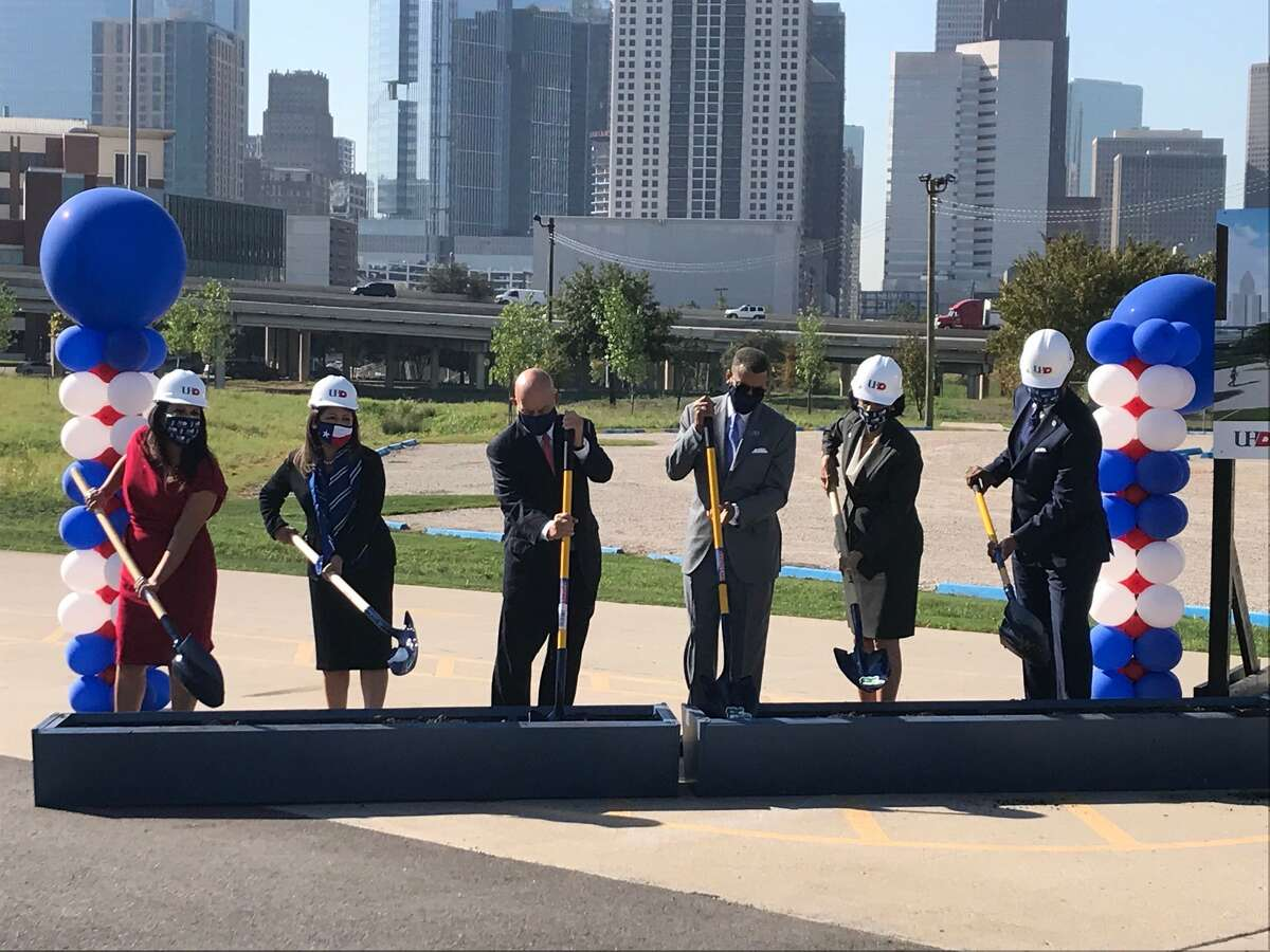 The University of Houston-Downtown broke ground on the Student Wellness & Success Center in a ceremony on Thursday, Nov. 11, 2020. Representatives from the University of Houston System, elected state officials and the construction and design team participated.