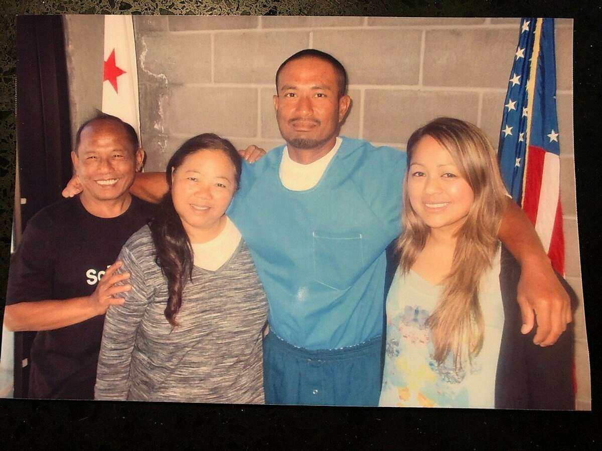 Bounchan Keola (third from left) suffered serious injuries battling the Zogg Fire as an inmate firefighter. He was transferred into ICE custody just two weeks later after he finished serving his sentence.