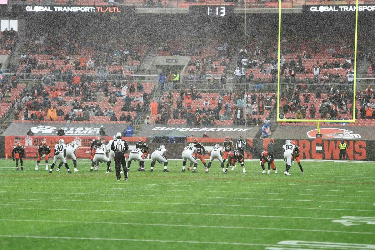 In the Browns' last home game - a 16-6 loss to Las Vegas two weeks ago - a 35 mph wind created problems for both quarterbacks in a game with only one touchdown.
