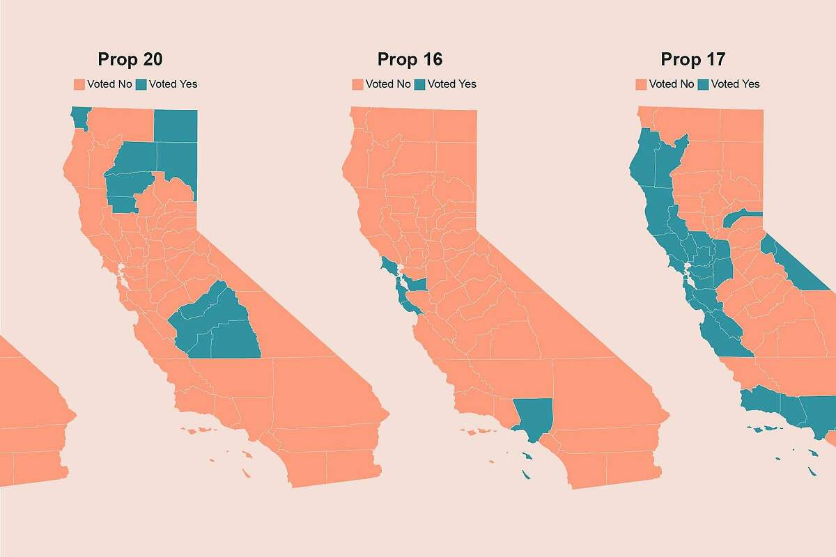 Maps from California's November ballot-initiative contests show Los Angeles has aligned more frequently with the liberal Bay Area than with the rest of Southern California.