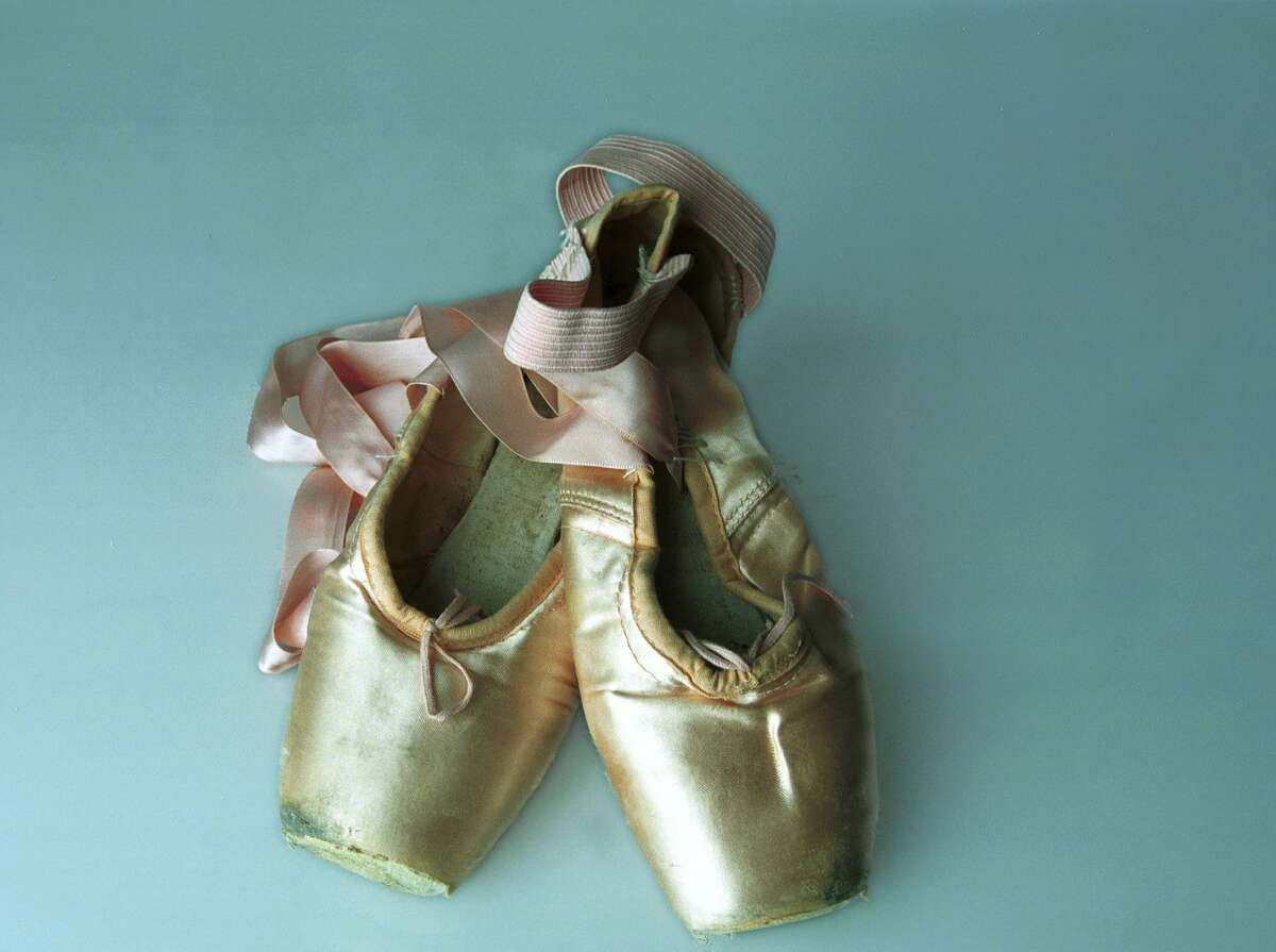 Ballet shoes for kids under stress are in this photo. Ridgefield's Marketing and Programming Supervisor for the town's Parks and Recreation Department, Kathy Fassman, writes her guest column for this week about what dance classes in the department are like to take.