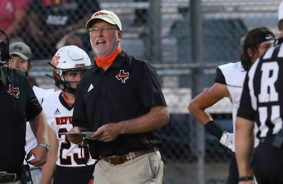 Coach Jason Herring's Refugio team is one of 12 Class A through 4A schools that advanced past this week's bi-district playoff round because COVID-19 complications rendered its opponent unable to play.