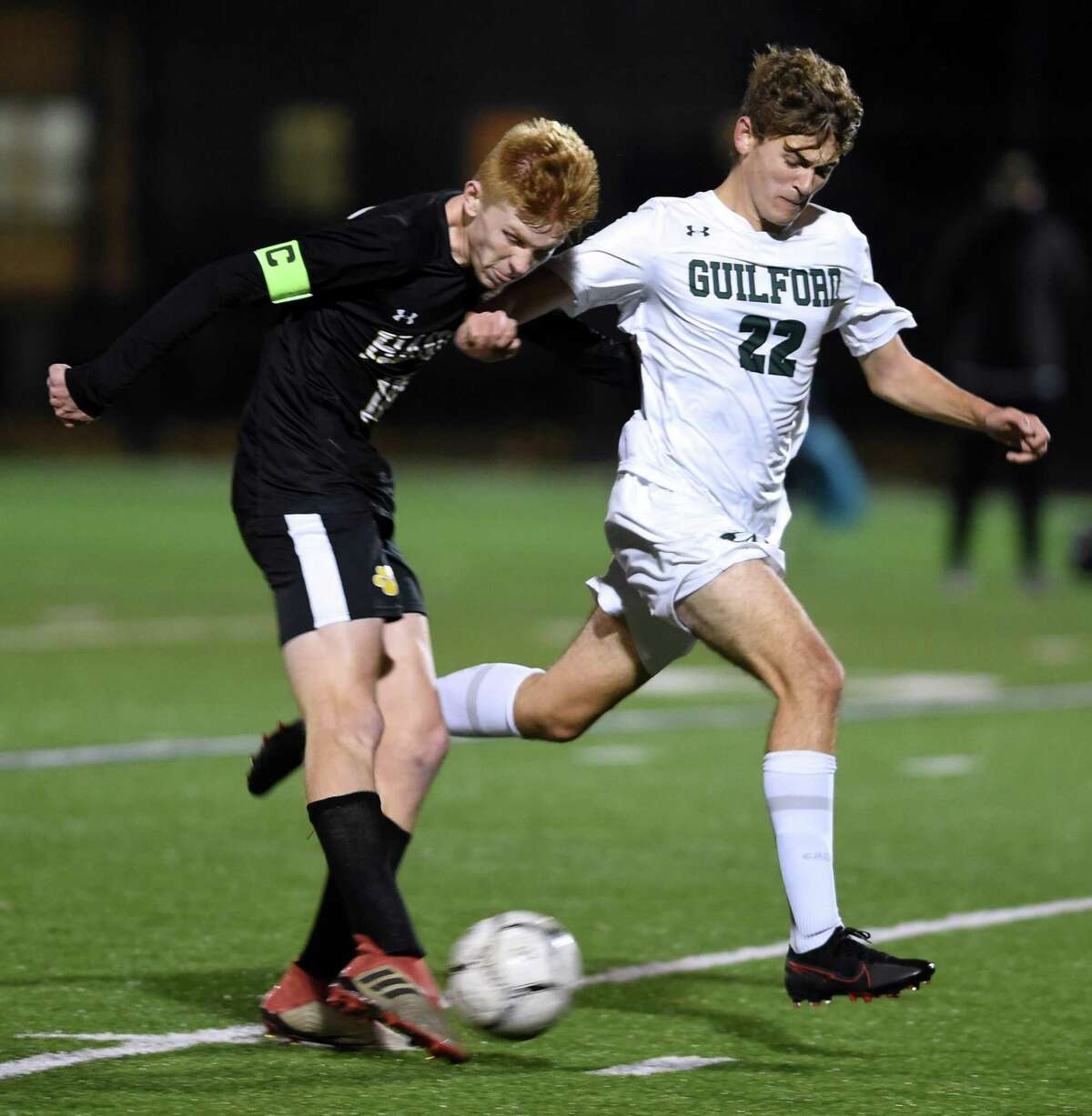 Hand's Scott Testori, left, has been named the Gatorade State Player of the Year for boys soccer.