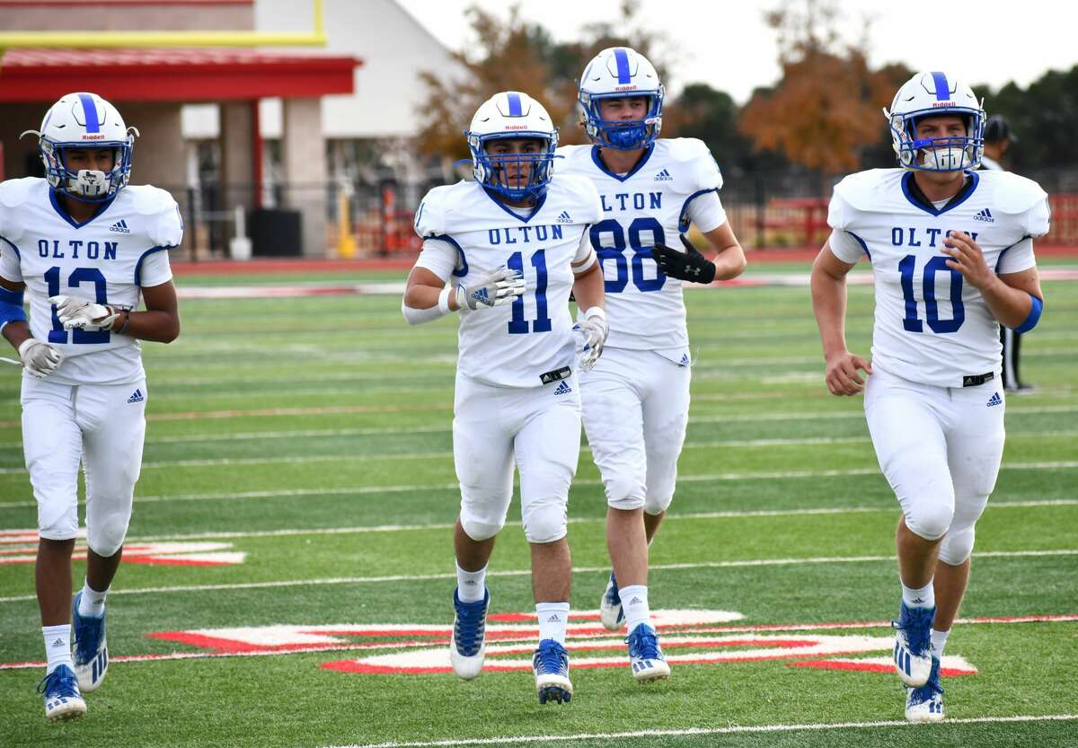 Olton knocked off New Deal 35-33 in their Class 2A Division I bi-district football playoff game on Thursday, Nov. 12, 2020 in Lobo Stadium in Levelland.