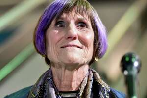 U.S. Rep. Rosa DeLauro, D-3, running for her 16th term, announces her win over Republican candidate Margaret Streicker on election night 2020 at the Shubert Theatre in New Haven.