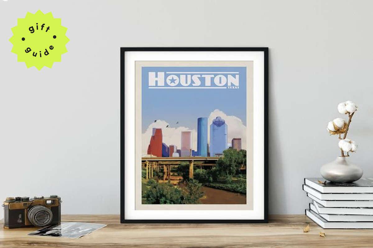 Houston Skyline, Starting at $17.99 on Etsy