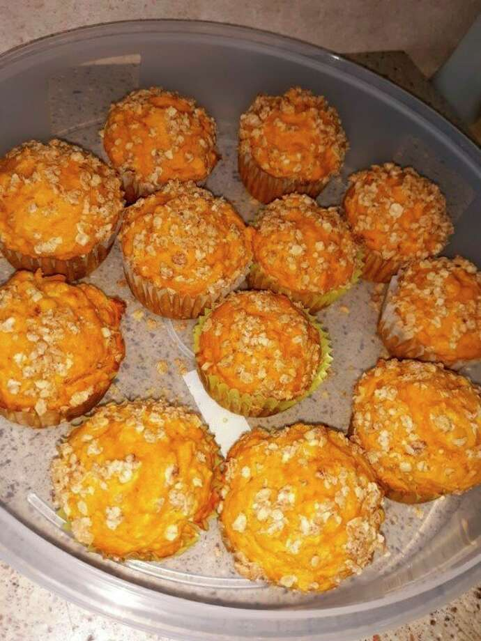 Lovina's pumpkin oatmeal muffins cool before a family gathering. (Courtesy photo)