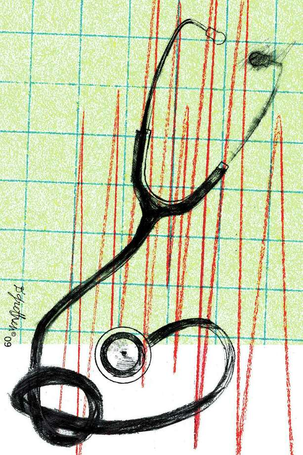 This artwork by Donna Grethen relates to health-care reform. Photo: Donna Grethen