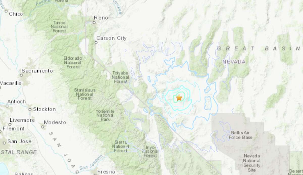 A 5.3 magnitude earthquake struck at 1:13 a.m. with a depth of 3.7 miles about 20 miles southeast of Mina, Nev.