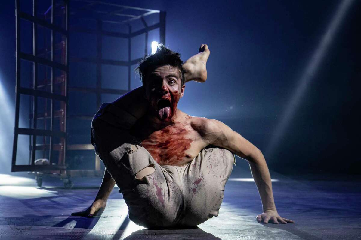 Contortionist Ben Holland performs in Paranormal Cirque, which comes to Ford Park on Nov. 12, 2020.