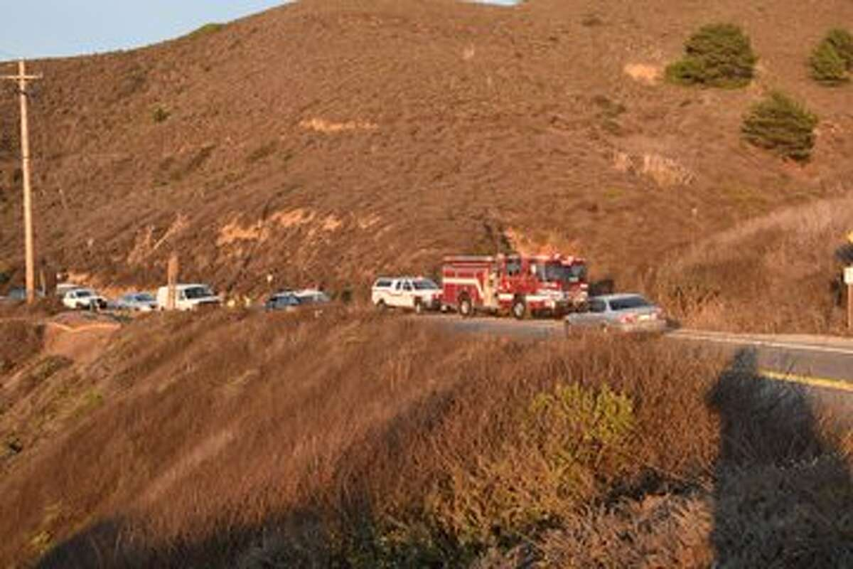A motorcyclist died after driving off a cliff along Highway 1 in San Mateo County early Nov. 13, 2020.