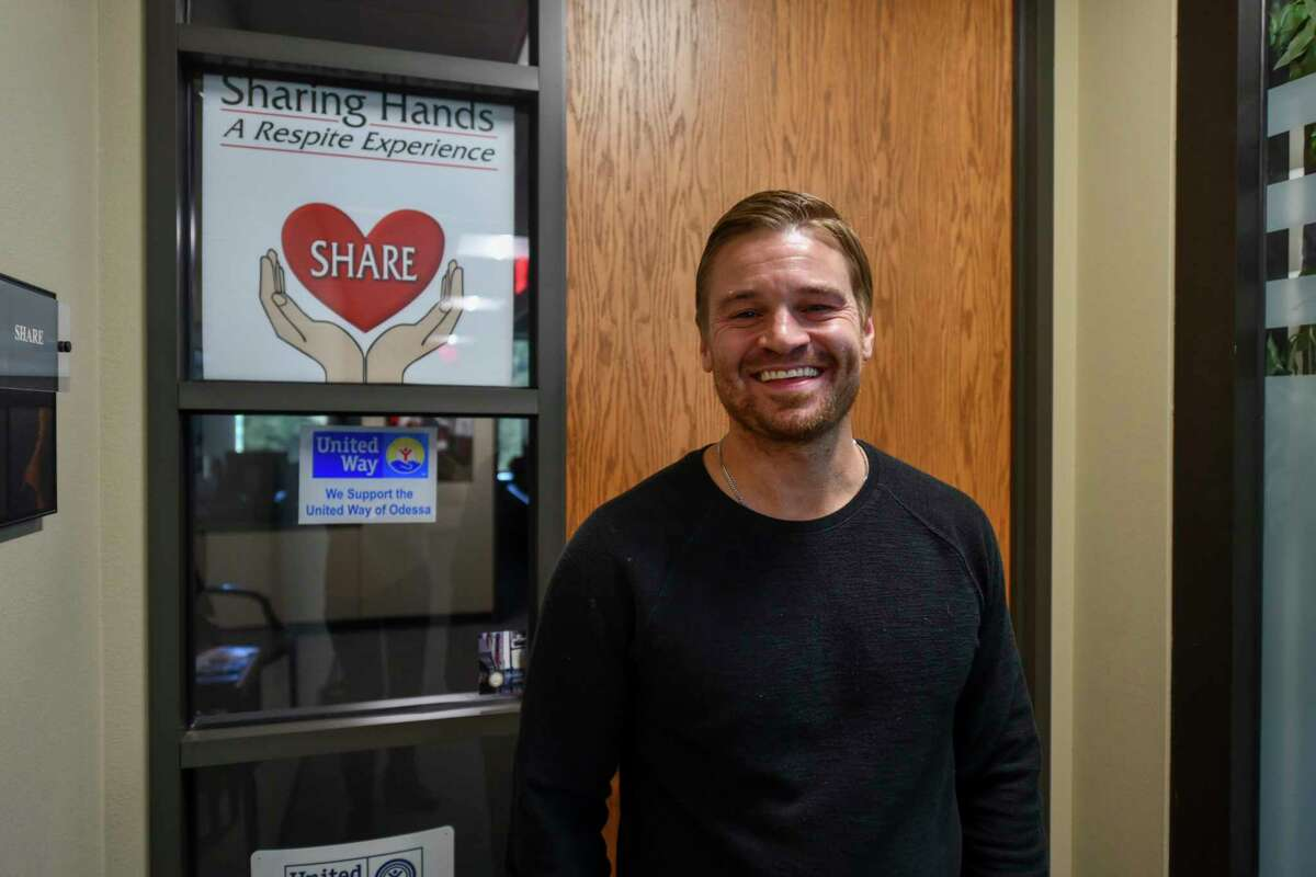 Jonathan Campbell, the new executive director of SHARE, poses for a portait in his office Tuesday, Nov. 10, 2020 at Midland Shared Spaces. Jacy Lewis/Reporter-Telegram