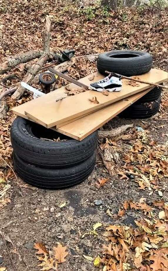 Middletown Mayor Ben Florsheim, who made his first post Wednesday, reporting discarded tires and other items in the Maraomas section of town through the SeeClickFix app. Photo: Screenshot / Mayor Ben Florsheim Facebook Post