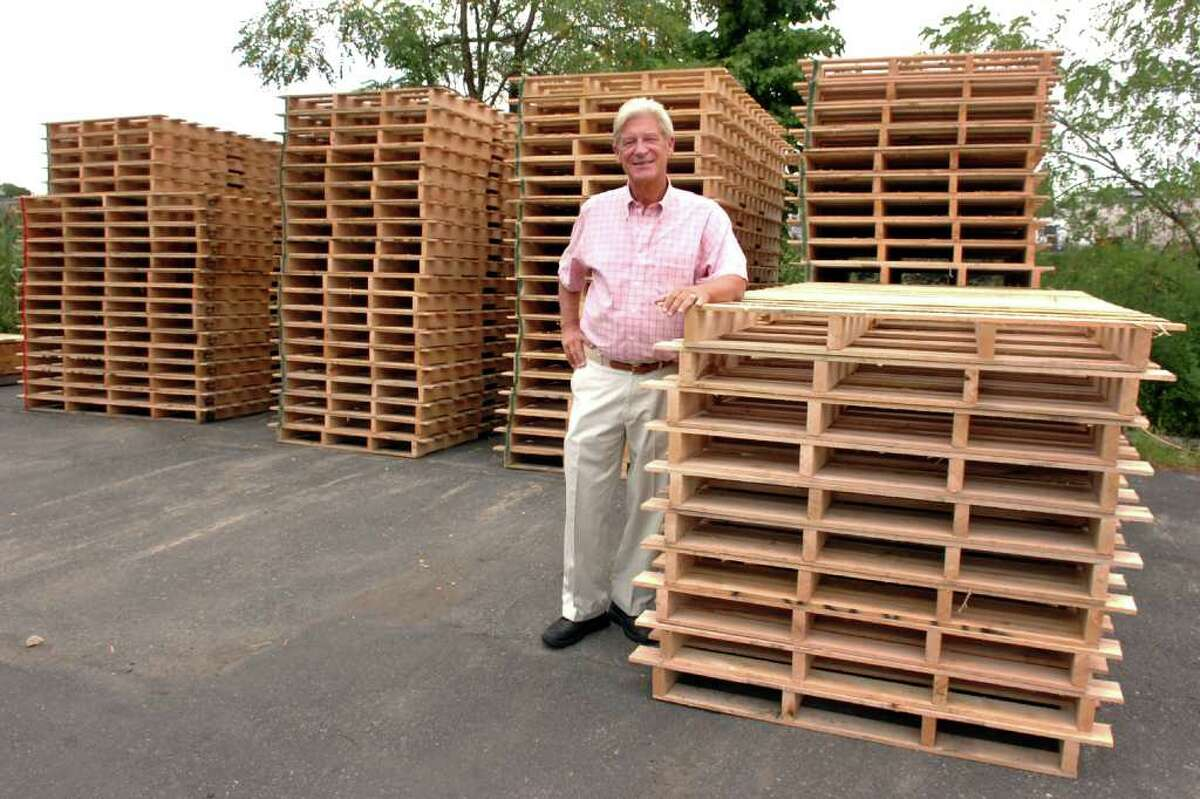 Peter Standish, President of Coastal Pallet Corp., in Bridgeport, Conn. Aug. 18th, 2010.