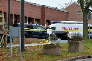 The scene outside of the boiler plant at the West Haven VA Hospital following an explosion on Nov. 13, 2020.
