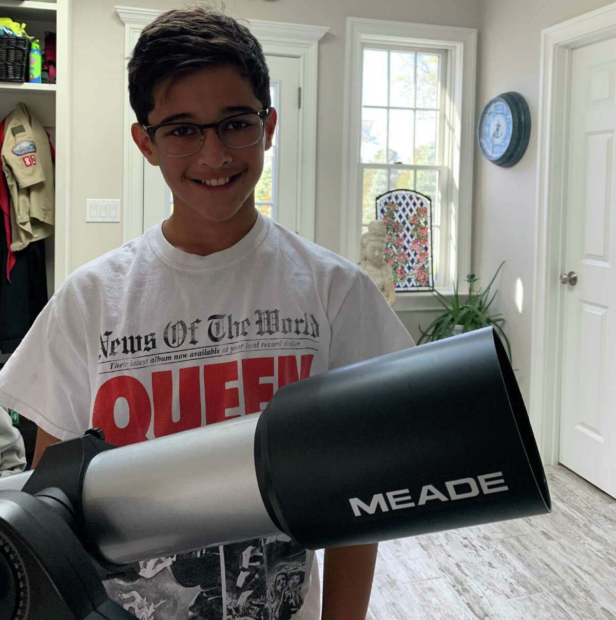 Bodhi Chiravuri took third place in the 11-14 age category in NASA's Lunar Loo contest with his design for the CosmoCommode.
