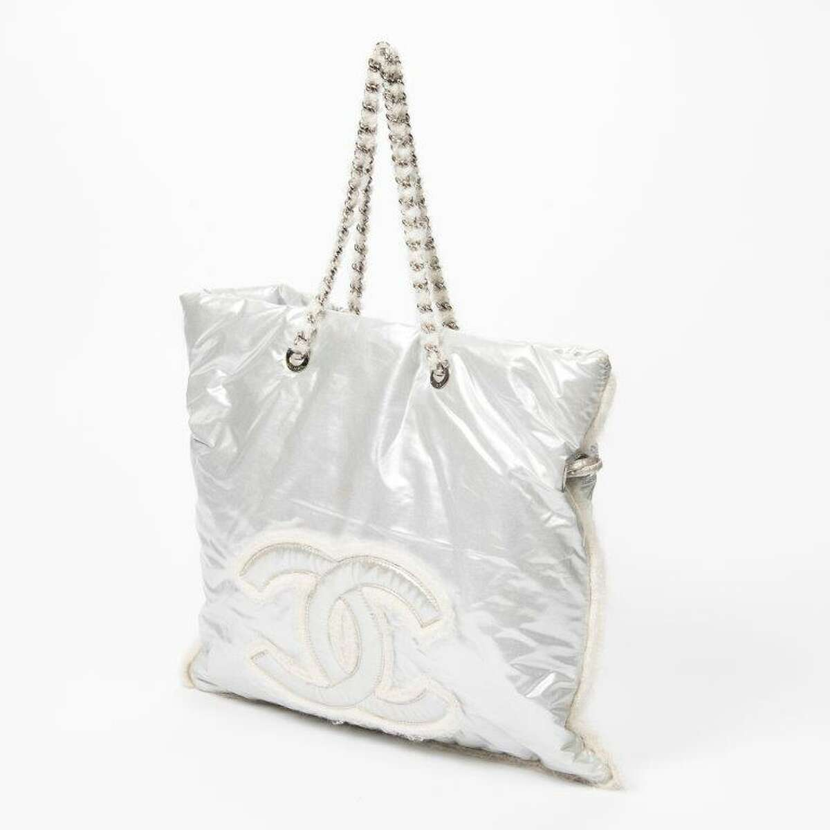 This white Chanel handbag will be included in the Dec. 5 luxury goods auction at Gallery Auctions.