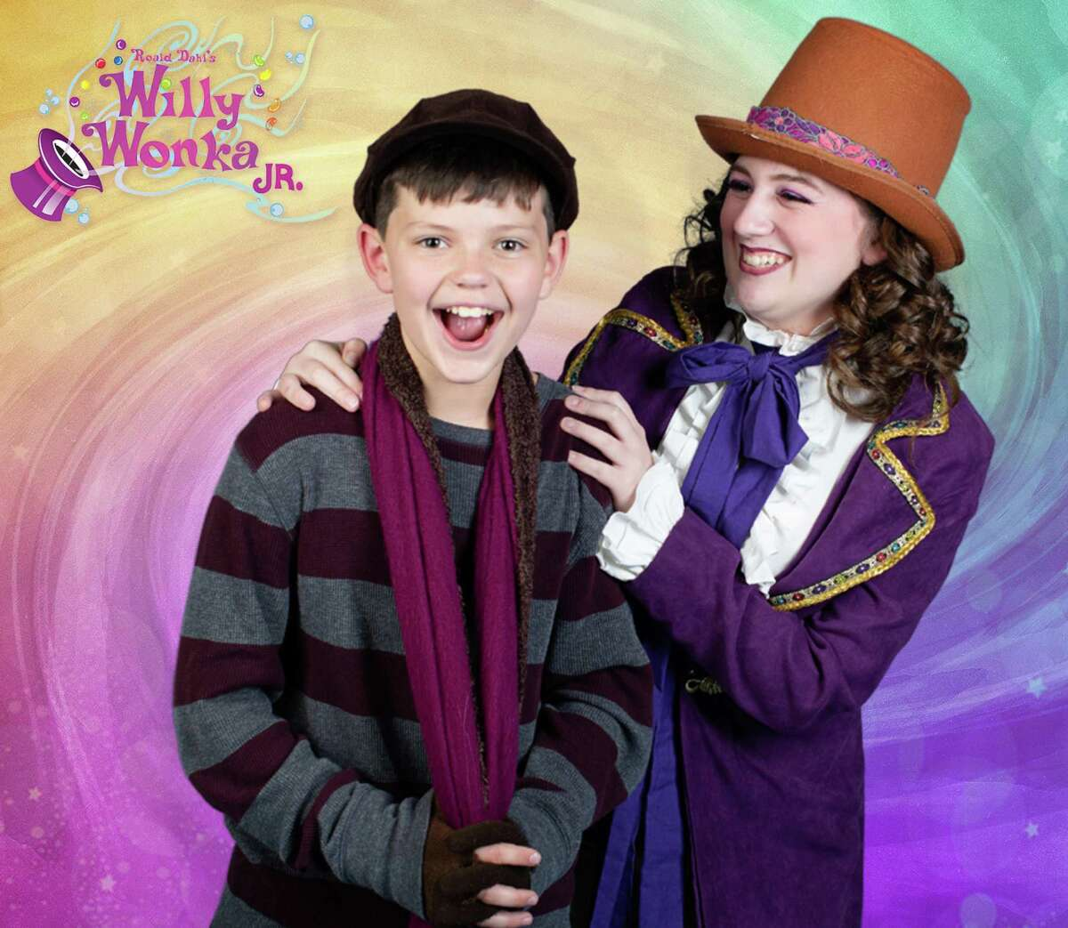 """Kaitlyn Whitmore, 15, plays Willy Wonka and Kai Desel, 11, plays Charlie Bucket in Christian Youth Theater's """"Willy Wonka Jr."""" Nov. 19-21 at the Crighton Theatre."""
