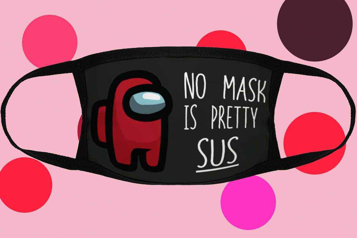 No mask is pretty Sus at Etsy.