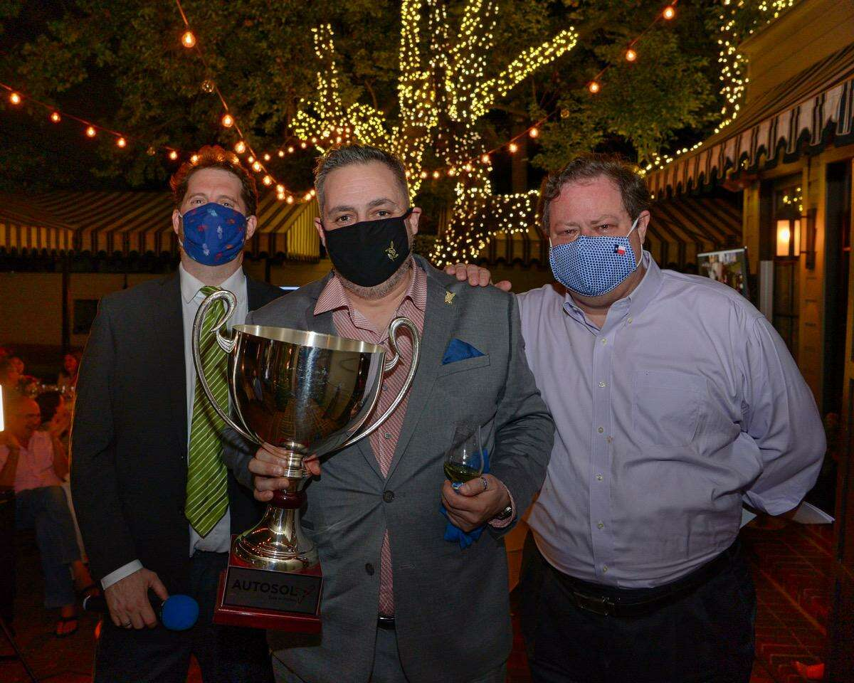 From left: Sean Beck, Evan Turner and John Clutterbuck at the 2020 Iron Sommelier competition