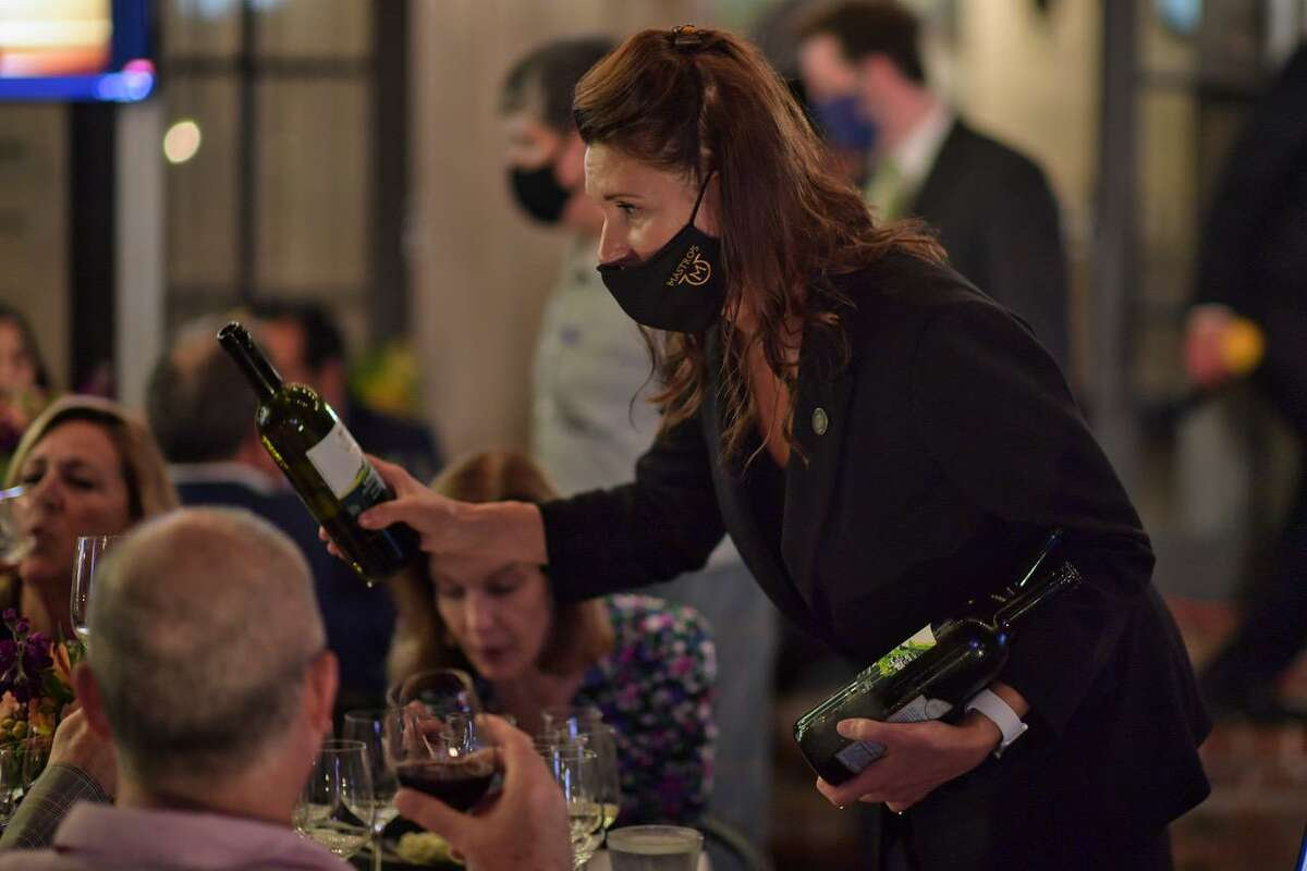 Julie Dalton at the 2020 Iron Sommelier competition