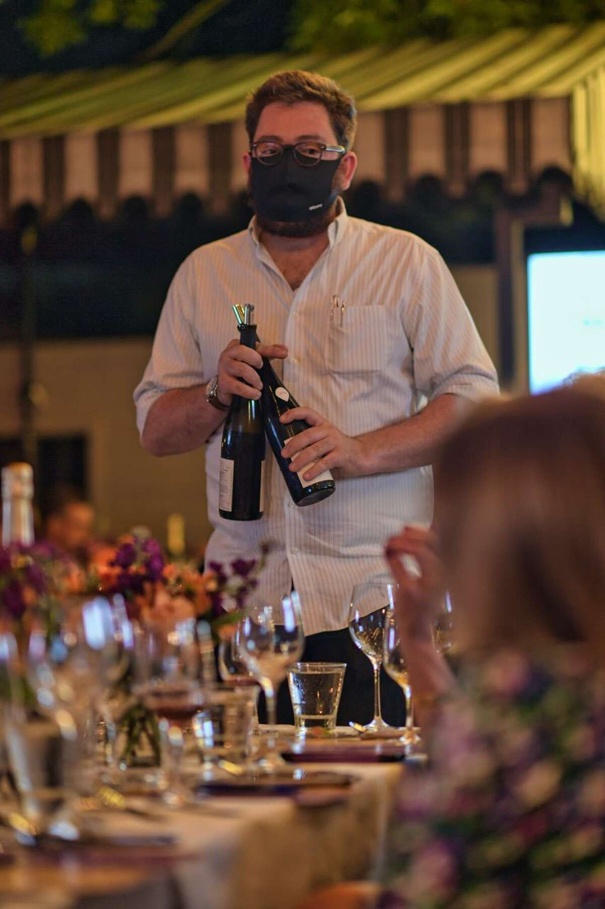 Justin Vann at the 2020 Iron Sommelier competition