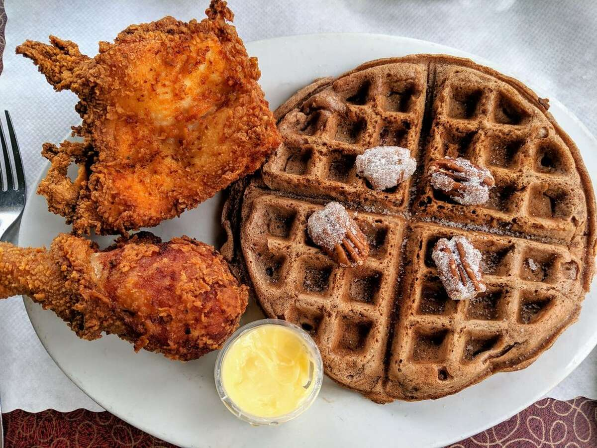 Chicken and waffles from Lois the Pie Queen