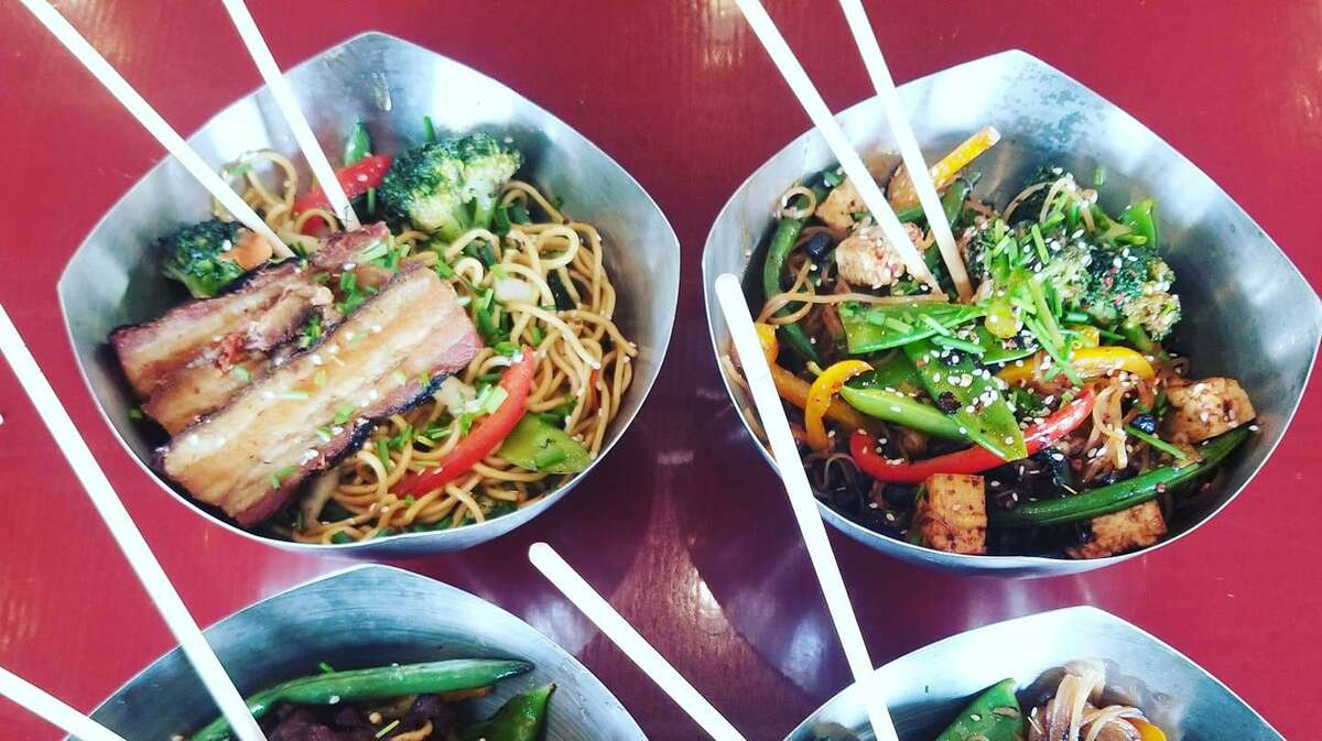 An assortment of noodle bowls from River Wok, which is a new ghost kitchen concept from San Antonio chef Ceasar Zepeda.