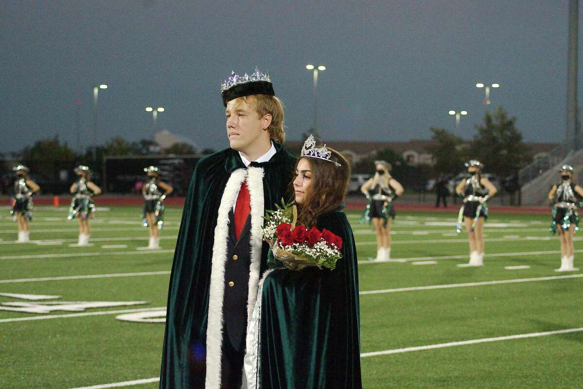 Wyatt Hunt and Toni Campise are crowned 2020 Clear Falls homecoming king and queen before the game against Clear Creek Nov. 12 Challenger Columbia Stadium. Clear Falls won 49-7.
