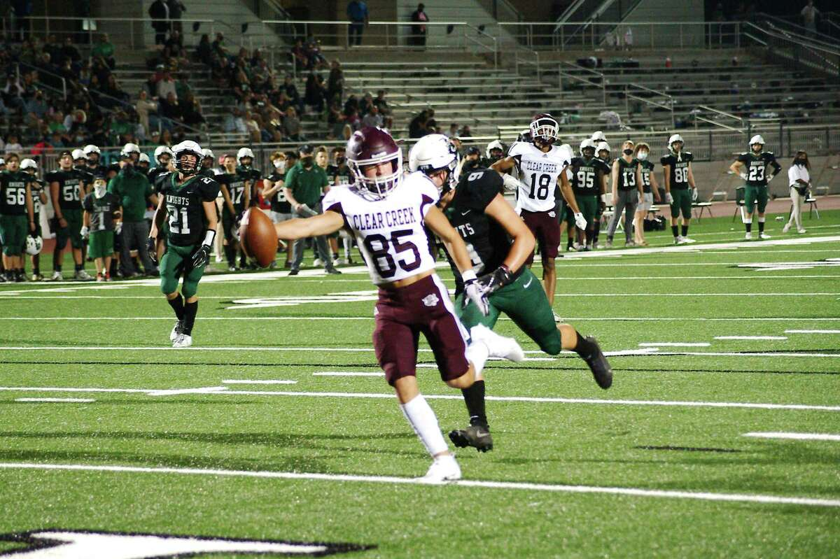 Clear Creek's Colton Jarmosco (85), shown here against Clear Falls, helped the Wildcats pick up a victory over Rosenberg Terry in a non-district game Thursday night.