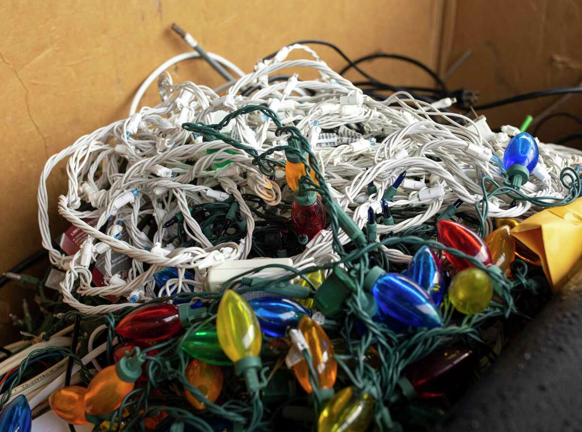 During the holiday season, though, a special emphasis is placed on proper recycling of various items as a flood of Christmas trees - many of which are 'flocked,' or sprayed with a while coating - and gift boxes, wrapping paper and twinkly lights are tossed to the wayside when Old St. Nick has retired for the next 11 months. Holiday materials such as Christmas trees, Christmas lights, wrapping paper and plastics are accepted at the Montgomery County Precint 3 recycling facility.