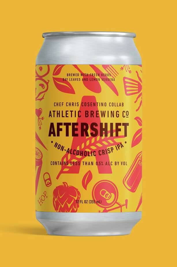 Chef Chris Cosentino collaborated with Athletic Brewing Company to launch their new nonalcoholic IPA, AfterShift. Photo: Athletic Brewing Company / Contributed Photo