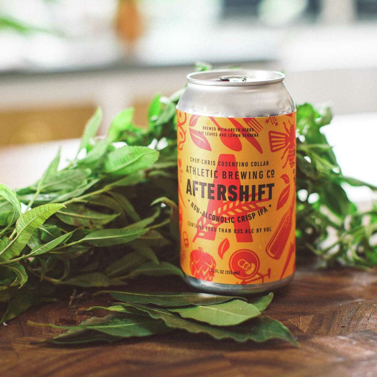 """Chef Chris Cosentino collaborated with Athletic Brewing Company to launch their new nonalcoholic IPA, AfterShift. Athletic Brewing is Connecticut's only non-alcoholic brewery and will have the new IPA available in its Stratford taproom for a limited release, beginning Nov. 16. According to Athletic Brewing's announcement, AfterShift is """"a delicate malt profile made of triticale and organic Vienna varieties plays backup to the assertive and aromatic symphony of the hops and herbs. The finish is a bright and effervescent burst of freshness and is both fragrant and mouth-watering."""" Cosentino's collaboration with Athletic Brewing was inspired by the endless cycle of long days and nights working in the kitchen and his busy schedule as a former professional mountain biker. Cosentino is the co-owner and chef of San Francisco's Cockscomb restaurant."""