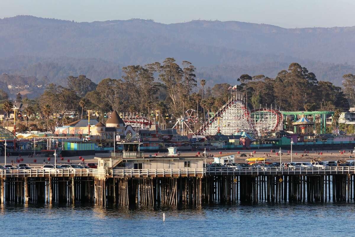 The Santa Cruz Beach Boardwalk.
