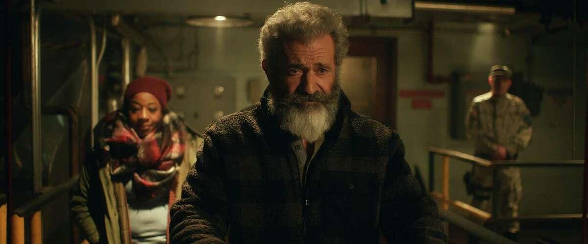 """Mel Gibson and Marianne Jean-Baptiste in """"Fatman."""""""