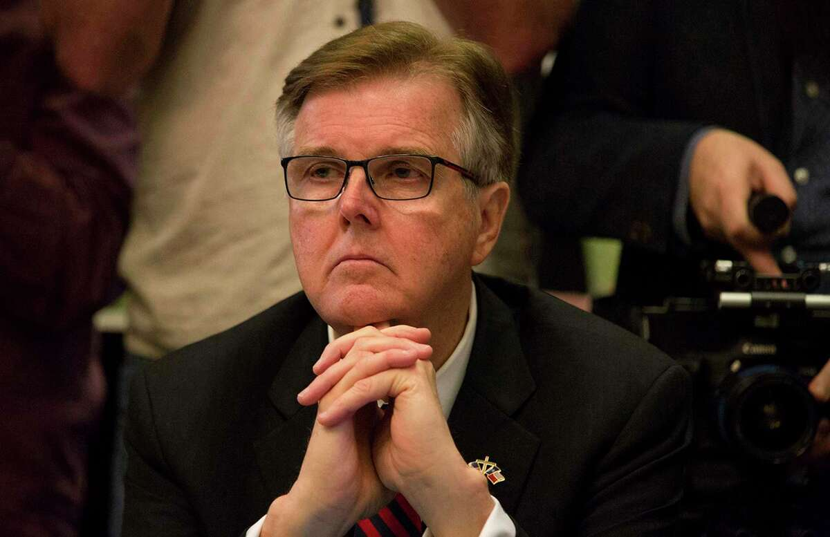 Texas Lt. Gov. Dan Patrick listens during a roundtable discussion about school safety at the Texas States Capitol on May 22, 2018, in Austin, Texas. (Ana Ramirez/Austin American-Statesman/TNS)