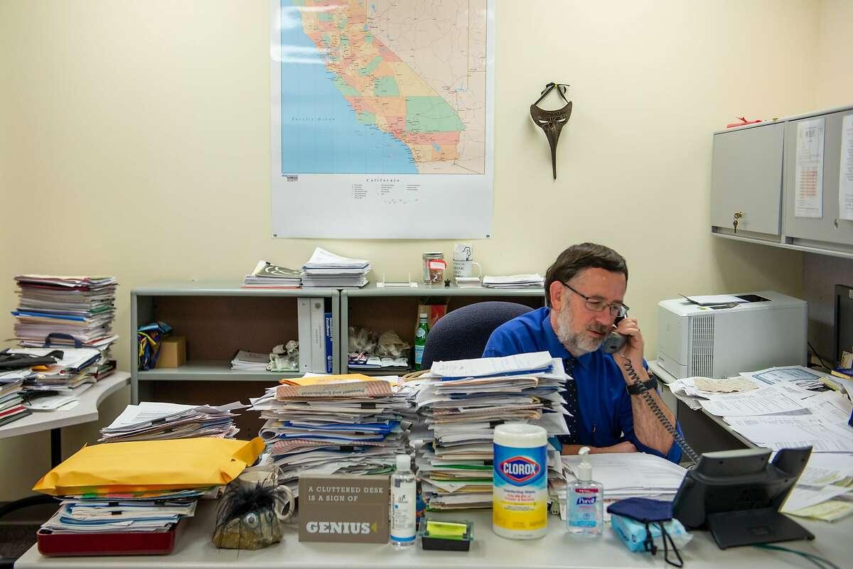 Dr. Bela Matyas in his office in Fairfield.