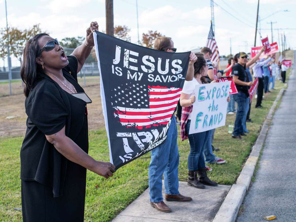 Backerd of President Donald Trump rally outside the local Republican Party headquarters last weekend to protest the election results, while Joe Biden supporters parade down Market Street. Readers, too are split on the outcome.
