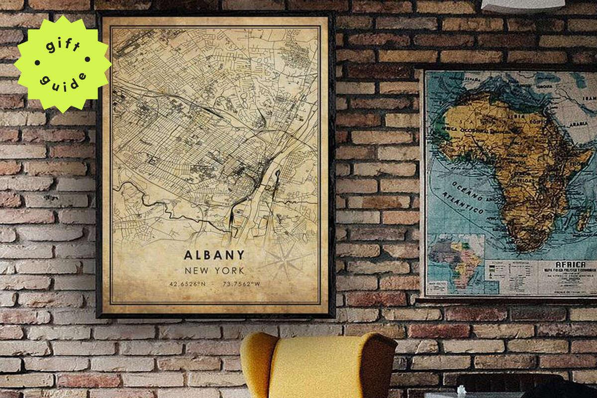 Albany Vintage Map Print, Starting at $13.50