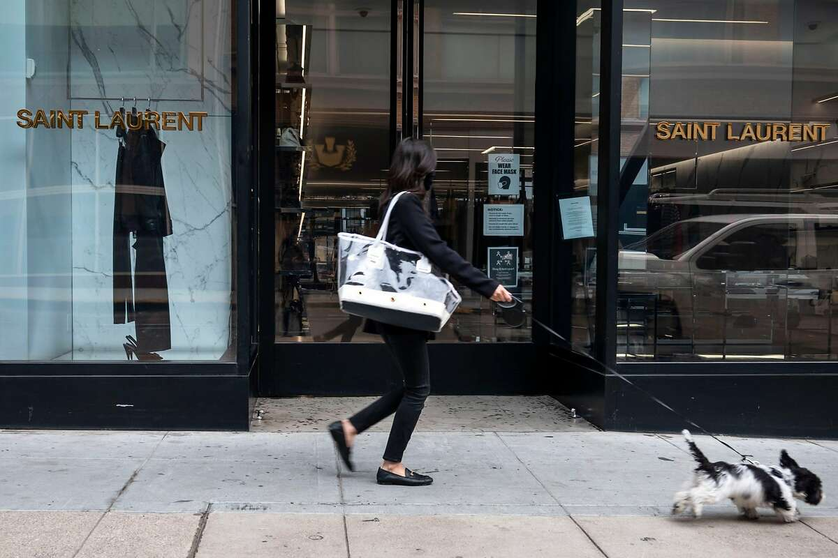 The Yves Saint Laurent store on Geary Street in San Francisco lost more than $50,000 worth of purses during a grab-and-run robbery.