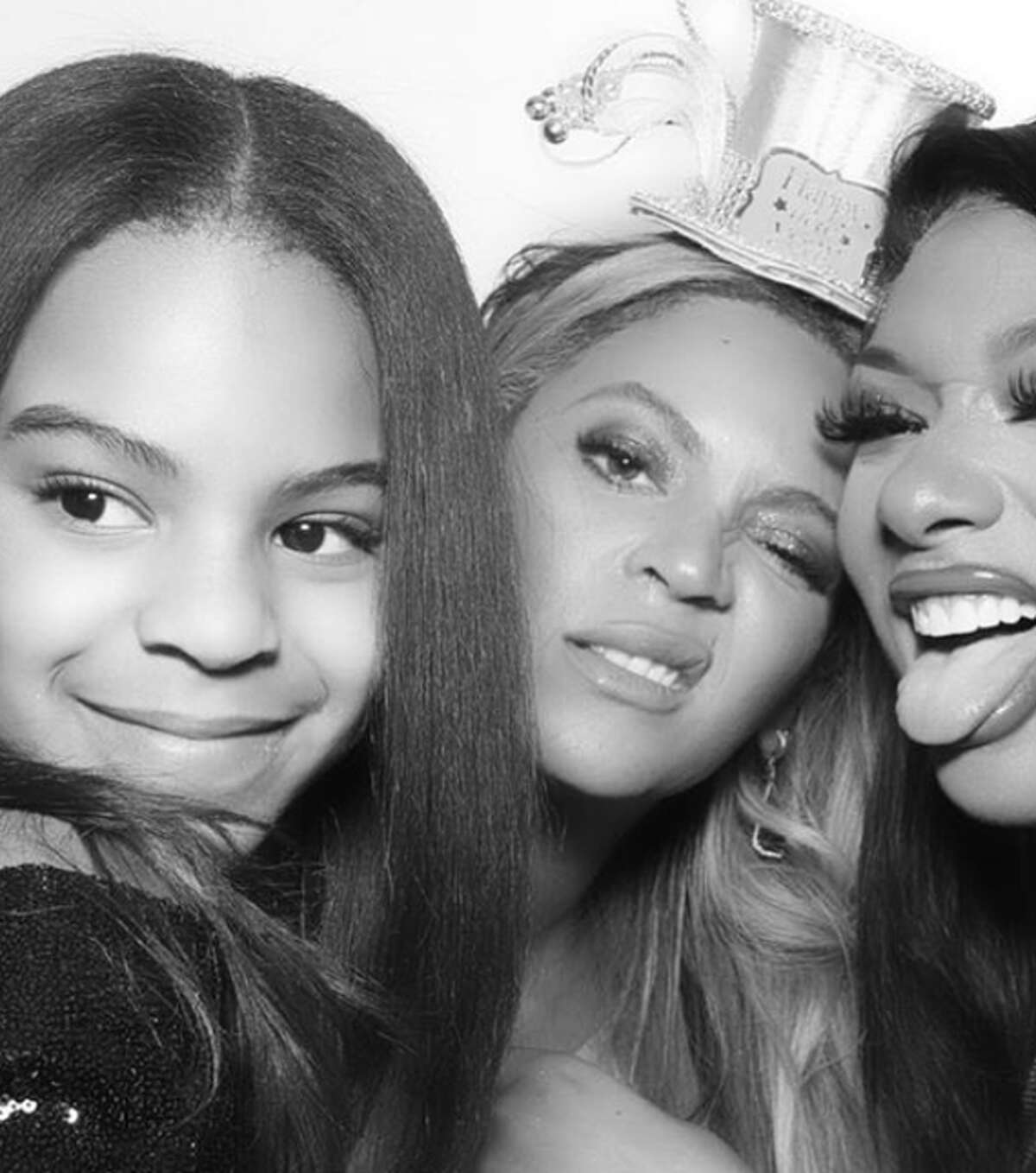 Blue Ivy Carter, Beyoncé and Megan Thee Stallion pose on New Year's Eve.